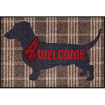 Salon lion door mat welcome dog 50 x 75 cm by Salon lion washable floor mat