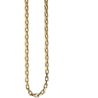 Necklace necklace stainless steel gold color coated 46 cm chain