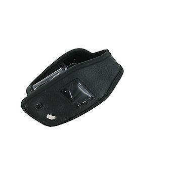 Solutions sans fil cas de Standard en cuir avec Clip ceinture pour Nokia 6170 (noir)