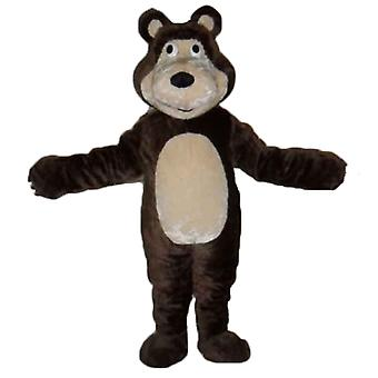 mascot bear Brown and beige, giant and endearing SPOTSOUND
