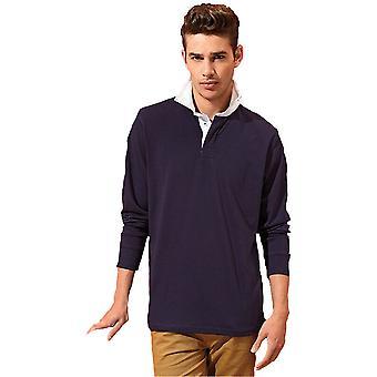 Outdoor Look Mens Kielder Long Sleeve Rugby Shirt Top