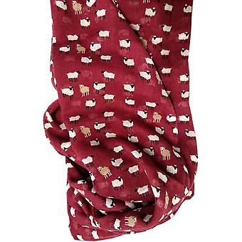 Sheep Print Scarf - Sheep - Plum by Peony