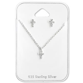 Cross-925 Sterling argint seturi-W28923X