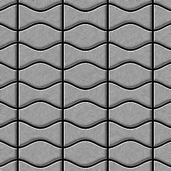 Metal mosaic Stainless Steel ALLOY Kismet-Karma-S-S-B