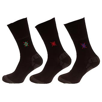 Universal Textiles Mens Non Elastic Socks With Bamboo Cushion (Pack Of 3 Pairs)