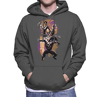Marvel Black Panther Nakia And Okoye Wakanda Battle Montage Men's Hooded Sweatshirt