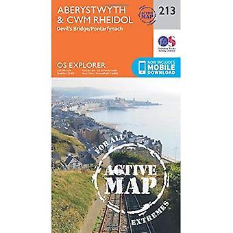 OS Explorer Karte aktiv (213) Aberystwyth und Cwm Rheidol (OS Explorer aktive Karte)