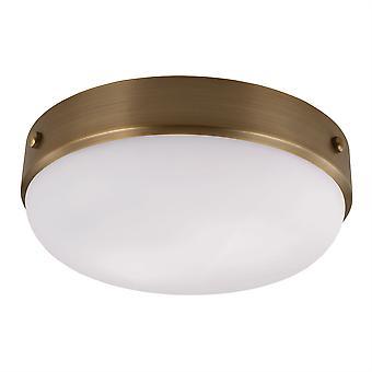 Kadence Tmavě starožitné mosaz flush stropní světlo - Elstead osvětlení Fe / Kadence / F DAB