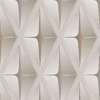 3D Wallpaper geometrische vierkante reliëf moderne Beige bruin wit AS creatie