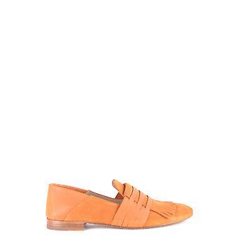 Fratelli Rossetti Ezbc052013 Women's Orange Suede Loafers