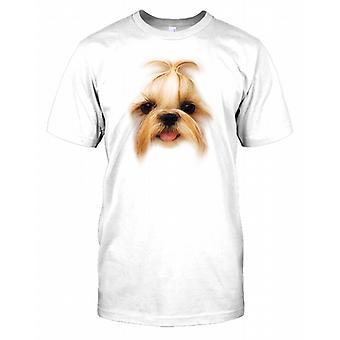 Shih Tzu Pedigree Hund Gesicht Kinder T Shirt