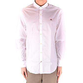 Napapijri Ezbc137014 Men's White Cotton Shirt