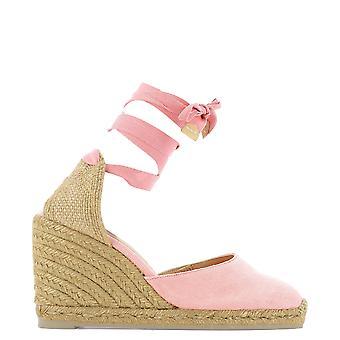 Castañer 020868812re Women's Pink Cotton Wedges