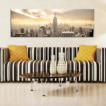 Painting - New York City among the clouds135x45