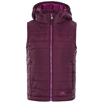 Trespass Girls Aretha Lightly Padded Hooded Contrast Gilet