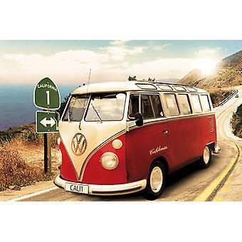 VW Camper rutt en Maxi affisch 61x91.5cm