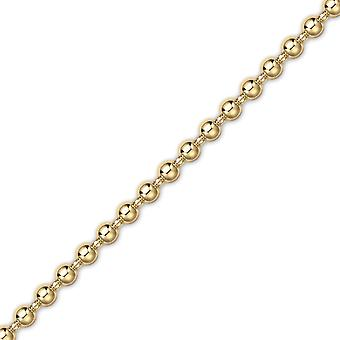 Jewelco London 18ct Gold Polished Chunky Ball Bead Bracelet 6mm