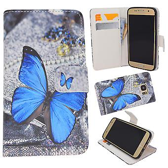 Samsung Galaxy S7-case/wallet leather-Butterfly