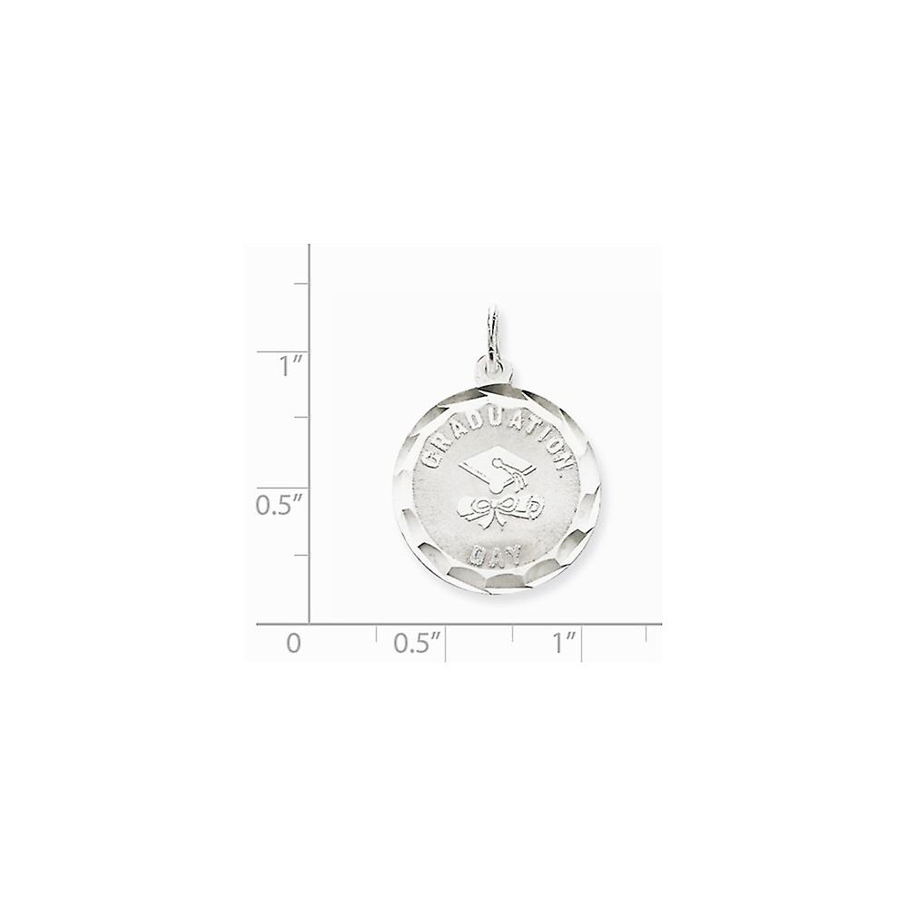 925 Sterling Silver Solid Engravable Graduation Day Disc Charm Pendant Necklace Jewelry Gifts for Women