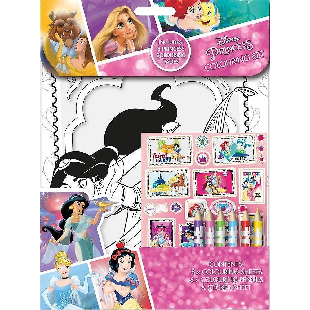 Disney Princess färgning set aktivitetspaket