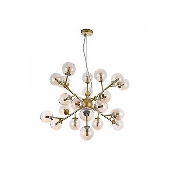 Maytoni Lighting Dallas Contemporary Gold Star Style Pendant With Glass Bobbles