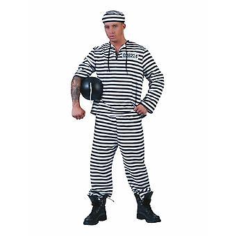 Prisonnier Costume hommes Knasti Prison Frère Costume Hommes