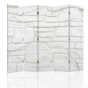 Divisor de quarto, 5 painéis, dupla face, lona, parede de arenito