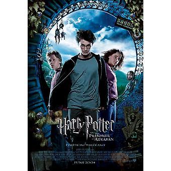Harry Potter ja Azkabanin vangin (DS Intl Style A UV päällystetty) (2004) alkuperäinen elokuva teatteri juliste