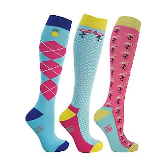 HyFASHION Adults Flamingo Socks (Pack of 3)