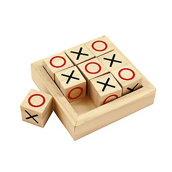 Bigjigs Toys Wooden Mini Noughts & Crosses Travel Games, Stocking Filler, Gift