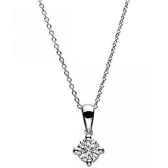 Diamond Collier Collier-14K 585 witgoud-0,25 CT.