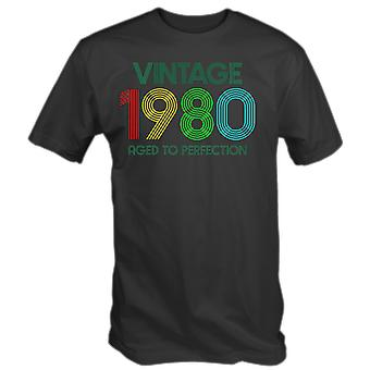 Vintage 1980 aged to perfection 40th birthday t-shirt fortieth in 2020 retro gift idea