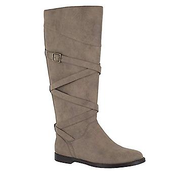 Easy Street Women's Memphis Mid Calf Boot, Taupe, 8.5 W US