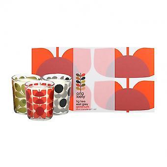 Orla Kiely Olive Shadow Flower Mini Candle Gift Set