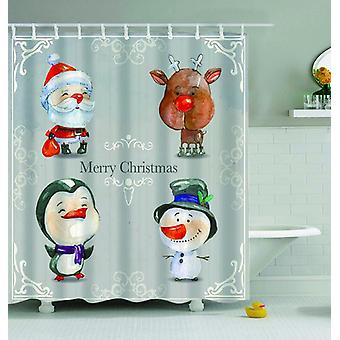 Christmas Vintage Cartoons Shower Curtain