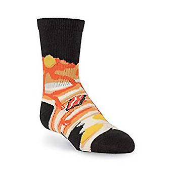 Kids Crew Socks - K Bell - Breakfast Black (7-8.5)