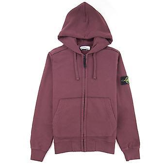 Stone Island 60220 zip up hoodie donkerrood V0011