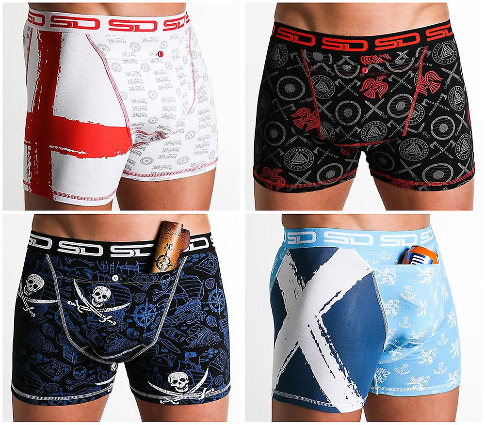Smuggling Duds Stash Boxers - North Sea 4 Pack