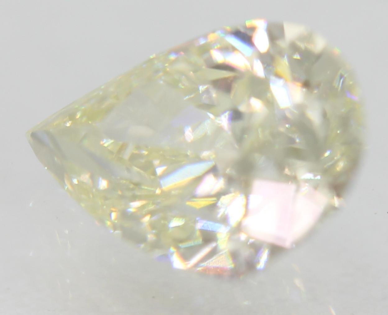 Certified 1.01 Carat J VVS1 Pear Enhanced Natural Loose Diamond 7.91x5.49mm