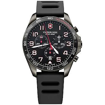 Victorinox field watch Quartz Analog Man watch with V241889 Rubber Bracelet