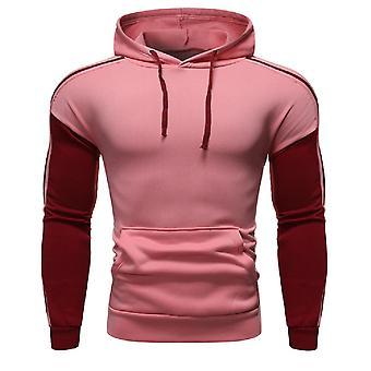 Allthemen férfiak ' s colorblocked kényelmes kapucnis pulóver