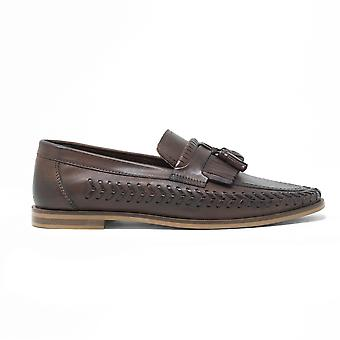 Mens walk london arrow loafers in brown leather