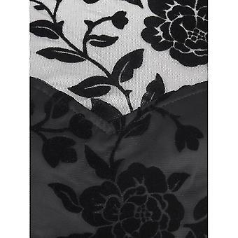 Collectif Vintage Women's Flared Faye Brocade Velvet Rose Swing Dress