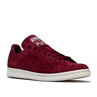 Mens adidas Originals Stan Smith Trainers In Maroon / Crystal White / Clear