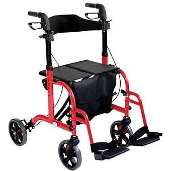 Aidapt rolstoel rollator - rood