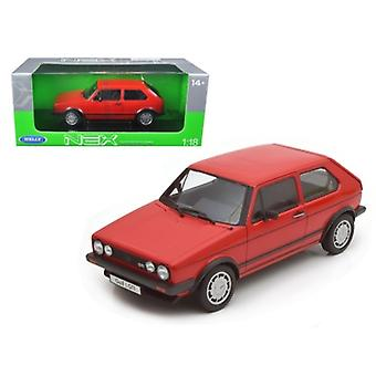 1983 Volkswagen Golf 1 GTI Red 1/18 Diecast Modellauto von Welly