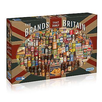 Gibsons The märken som byggt Britain pussel 1000 bit