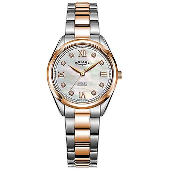 Rotary Women's Henley | Two-Tone Steel Bracelet | Diamond Set Dial LB05112/41/D Watch