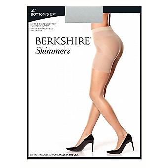 Berkshire Shimmers The Bottom's Up Pantyhose, Platinum, 1, Platinum, Size 1.0