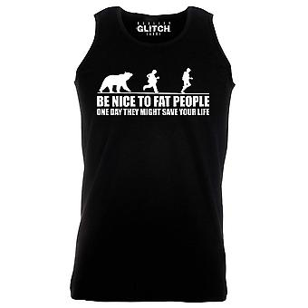 Reality glitch be nice to fat people mens vest